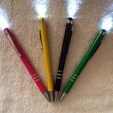 金属笔 灯笔触控电容笔,广告笔,雕刻, 印刷logo