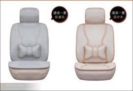 供应厂家直销新款亚麻汽车坐垫 车座套 四季通用 汽车用品