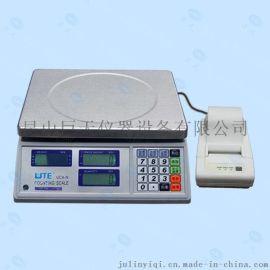 UTE台湾联贸UCA-N标签打印电子称 联贸30kg/1g打印计数电子秤