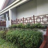 西安渡假村铝合金扶手,仿木纹铝护拦,烤漆铝合金护围拦
