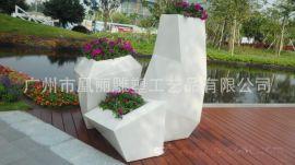 工厂生产供应玻璃钢花盆组合时尚花盆批发商场美陈绿化供应