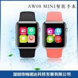新款智慧AW08 MINI智慧穿戴設備健康運動計步拍照手表廠家