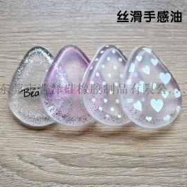 普泽透明硅胶粉扑水滴果冻粉扑