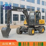 供应轮式挖掘机 山江重工现货轮式液压挖掘机