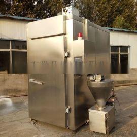全自动鸡鸭烘烤箱大型熏鸡设备腊肉果木烟熏烘烤炉