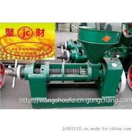 聚财jc-100全自动螺旋榨油机 新型全自动液压榨油机原理 家用花生榨油机