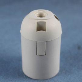 VDE  E27卡式白塑料光身灯头