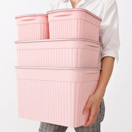 厂家直销新品衣服整理箱大号塑料收纳箱四件套储物箱