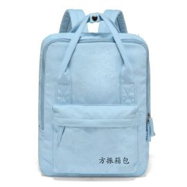 上海箱包定制牛津布学生书包帆布双肩背包来图打样可添加logo