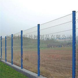 铁丝护栏网 浸塑护栏网 冠顺绿色隔离栅-4.9