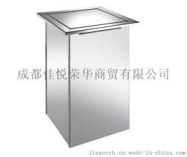 嵌入式垃圾桶 方形  桌面垃圾桶 不锈钢台面清洁桶