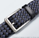 编织腰带韩版裤带针扣男士真皮皮带厂家定制现货批发