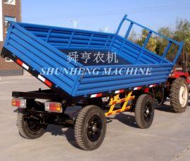 5吨农用自卸拖斗 后翻自卸气刹刹车拖拉机挂斗