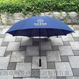 直杆纤维雨伞广告伞雨伞定制logo超大抗风高尔夫伞
