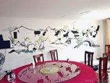 江阴中式餐馆餐厅小包间墙绘QH1 现场手绘墙2