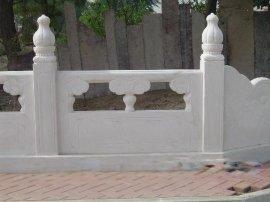 供应草坪石材护栏、花池石材栏杆、白色石材栏杆