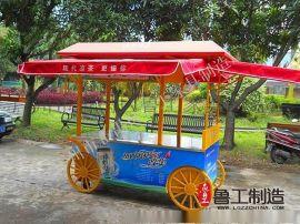 防腐木售货车 实木可移动 木质售货车防雨售货亭步行街景点售货车