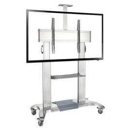 NBCF100(60-100英寸)电视移动支架移动推车视频会议展示移动落地支架挂架