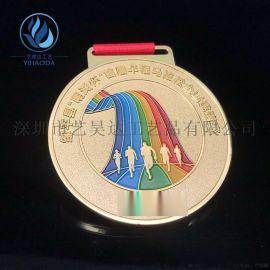 篮球比赛金属奖牌金银铜牌定制比赛运动会荣誉奖章