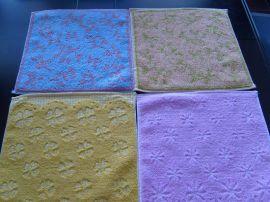 素色提花方巾