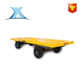 轨道运输自动供电液压升降平台车定制 车间物料运输折叠搬运拖车