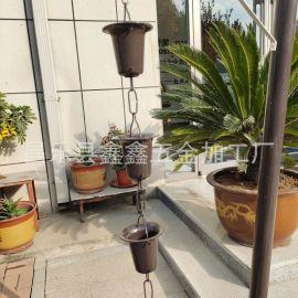 北京别墅安装雨链怎么样 铝合金雨链排水效果怎么样