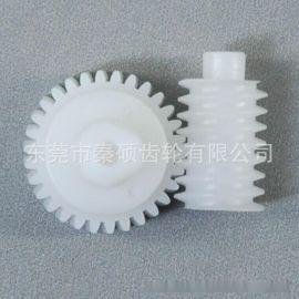 塑胶蜗杆蜗轮 电机齿轮 东莞秦硕塑胶齿轮欢迎广大客户订购