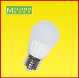 美晶照明供应LED陶瓷球泡灯E273W高品质节能灯泡