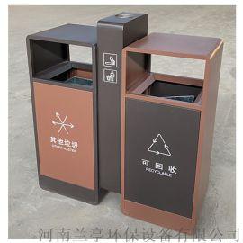 河南垃圾分类镀锌板户外垃圾桶制造厂家
