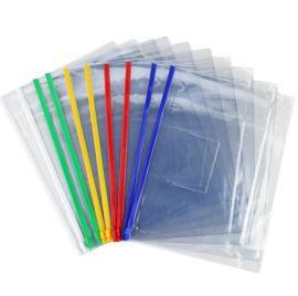 A5透明拉链办公文件袋 拉边袋PVC资料袋可印广告