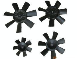 厂家供应一体式铸铝合金动平衡7片风叶