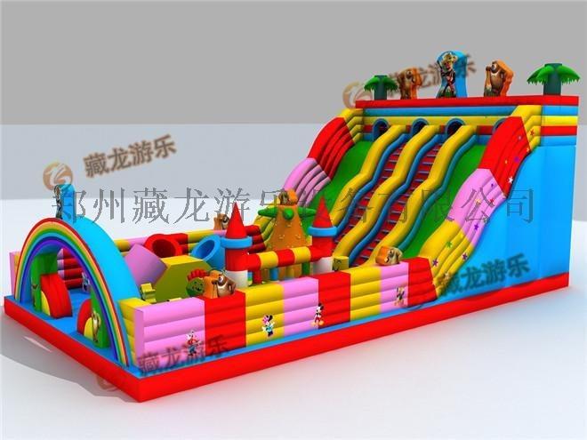 大型**户外充气床,气模娱乐设施玩具,公园儿童游乐场充气城堡
