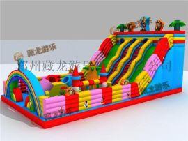 大型廣場戶外充氣牀,氣模娛樂設施玩具,公園兒童遊樂場充氣城堡