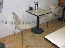 廣東廠家定制鑄鐵腳彎木分體兩人位餐桌椅