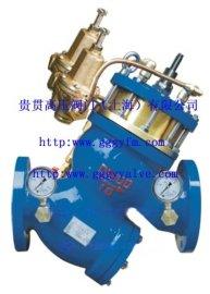限流导阀YQ98过滤活塞式可调减压阀安装示意图