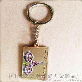 廠家直銷 精美金屬鑰匙扣 可定製圖案鑰匙掛飾 男女通用鑰匙圈