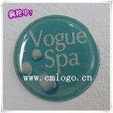 供应美容设备SPA水晶滴胶标牌 环氧树脂丝印logo定制