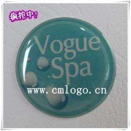 供應美容設備SPA水晶滴膠標牌 環氧樹脂絲印logo定製