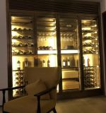 佛山厂家定制 不锈钢恒温酒柜 不锈钢红酒架 酒柜 酒窖来图加工