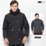 冬季情侣冲锋衣女男三合一两件套中长款滑雪服防水厚外套定制LOGO