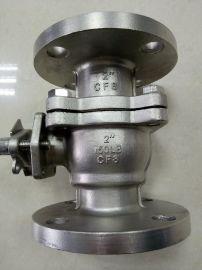 不锈钢美标法兰球阀Q41F-150LB~300LB