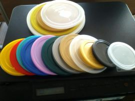 圆形塑料盖 防尘盖 胶盖 奶粉盖