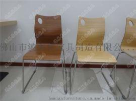 热销弯木餐椅,不锈钢弯木餐椅广东鸿美佳厂家加工定制