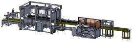 东莞申创生产龟苓膏包装生产线 罐类装箱机 机器人装箱机