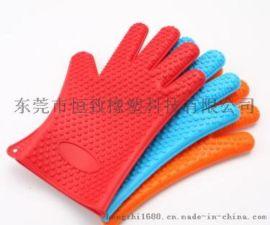 142g星星款硅胶隔热手套 硅胶防烫手套耐高温手套
