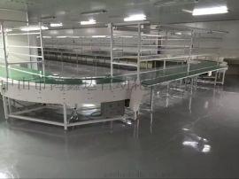 中山餐盘碗筷消毒输送流水线餐具分拣传送带