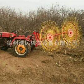 指盘式搂草机 牧草机械 搂草盘农业机械牵引式搂草机