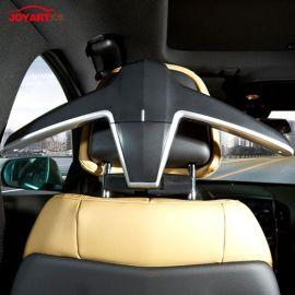 创意汽车用品厂家批发 多功能黑色环保ABS车载衣架 西服晾晒衣架定制