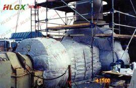 可拆卸式保温隔热套对硫化机隔热的实用性及隔热效果。