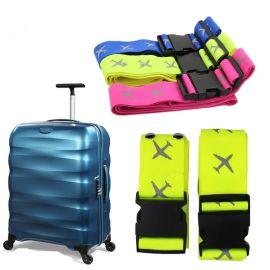 旅行行李箱防摔捆绑带尼龙箱包打包带便携带反光飞机图案 两条装